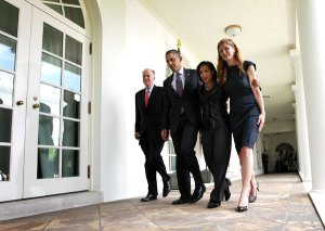 Alex Wong/Getty Images - National Security Adviser Tom Donilon; Obama; Susan Rice; and Samantha Power
